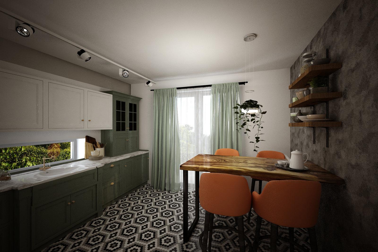 Фото — Интерьер ДОМа ТЕХНОНИКОЛЬ на Open Village — кухня